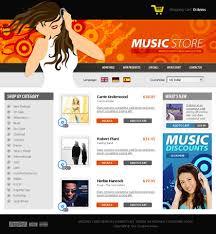 Music Website Templates Impressive Free Template Music Store Website Template TemplateYes