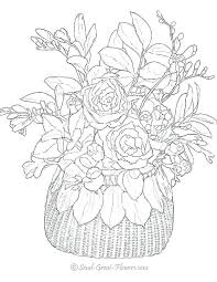 printable flowers coloring pages flower page printable coloring sheets to see more difficult flowers free printable