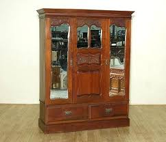 english antique armoire antique. Vintage Clothing Armoire French Wardrobe Antique With Mirror English Victorian Walnut