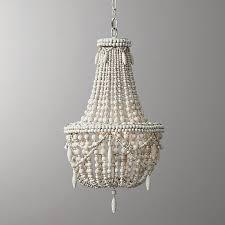 wood bead chandelier idea