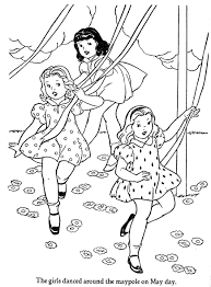 Small Picture What Is May Day May day coloring pages My May Pinterest