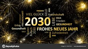 happy new year 2030. Modren 2030 Deutsche Grukarte Oder Einladung Zum Neuen Jahr 2030 U2014 Foto Von JNaether Throughout Happy New Year H