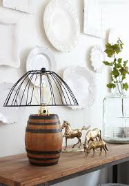 diy reclaimed barrel lamp wire cage lampshade