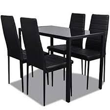 Vidaxl Ensemble Table Et Chaises Pour Salle à Manger 5 Pcs Mobilier Cuisine