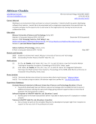 science resume objectives examples - Fresher Resume Objectives