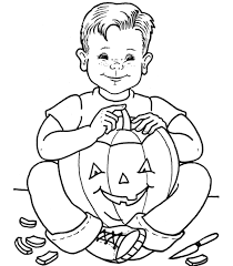 Small Picture Cat And Pumpkin Coloring Pages Printable For Halloween Hallowen