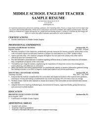 Resume Format For Teaching Jobs Best Teacher Resume
