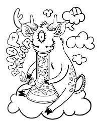 Coloring Pages Trippy Hippie T Adult Page Printable Auchmar