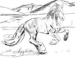 Wild Horses Coloring Pages To Print Of 4 Betweenpietyanddesirecom