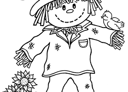 Small Picture Good Scarecrow Coloring Page 15 In Coloring Pages Online with