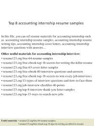 Accounting Internship Resume Markedwardsteen Com