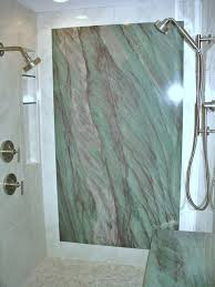 shower with granite wall contemporary