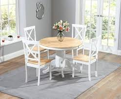 white dining room sets 3 oak and white round dining table with 4