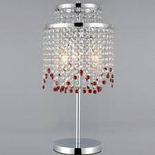 china new modern red k9 crystal chandelier table lamps