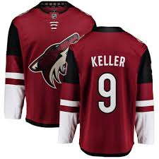 Breakaway Arizona Jersey Fanatics Burgundy 9 Red Nhl Authentic Branded Home Youth Clayton Coyotes Keller