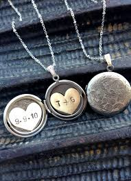 a hand made initials and date locket necklace heart locket anniversary date engraved locket necklace made to order from sora designs custommade