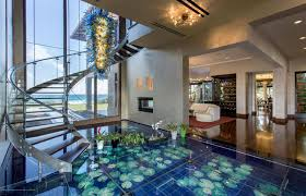 mansion bedrooms with a pool. Florida Oceanfront Home With Contemporary Glass Spiral Staircase Mansion Bedrooms A Pool