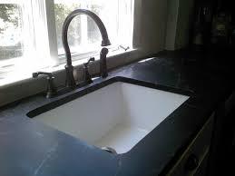 white porcelain kitchen sink combined brushed nickel faucet of inside remodel 16