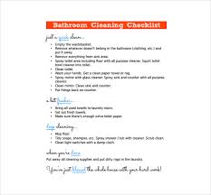 Bathroom Cleaning Schedule Simple 48 Bathroom Cleaning Schedule Templates PDF DOC Free Premium