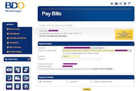 pay bdo credit card bill