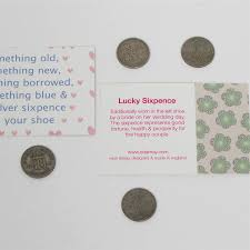 bride to be lucky sixpence gift bag