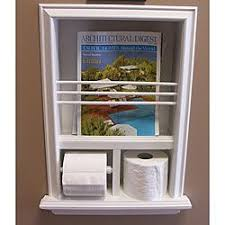 Toilet Paper Holder With Magazine Rack Inwall Bevelframed Magazine Rack Toilet Paper Holder Country 36