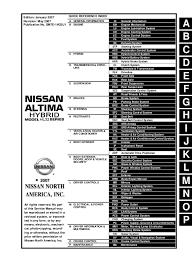 2007 Nissan Altima Hybrid Service Repair Manual