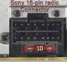 bhson16 replacement harness for select sony 16 pin radios radio please check that the sony radio connector matches this