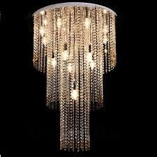 promotion s flush mount modern crystal square chandelier re lighting