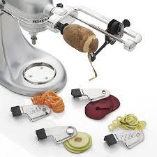 kitchenaid vegetable sheet cutter. crate \u0026 barrel kitchenaid ® spiralizer attachment kitchenaid vegetable sheet cutter