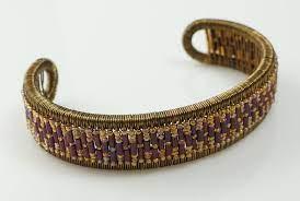 Bailey Wire Cuff by: Lauri Riggs | Wire cuff, Leather bracelet, Wrap  bracelet
