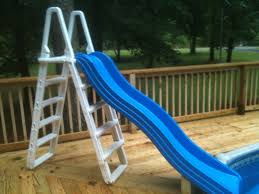above ground pool slide. Beautiful Above My Wife Found The Slide At A Yard Sale It Is Playground Slide I  Attached To Our Old Pool Ladder Inside Above Ground Pool Slide W