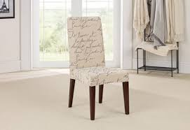sure fit stretch pen pal by waverly short dining chair slipcover intended for slip covered chairs ideas 5