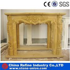 yellow marble fireplace for natural marble fireplace whole chinese gold marble carved fireplace mantel surround decorated european hand carved