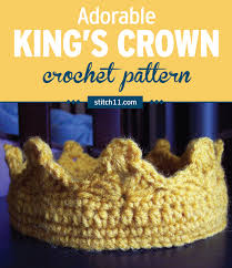 Crochet Crown Pattern Classy For The King Of Your Castle Stitch48
