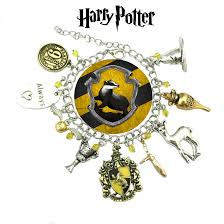 harry potter hufflepuff charm bracelet book series jewelry multi charms wristlet superheroes brand gryffindor slytherin ravenclaw collection
