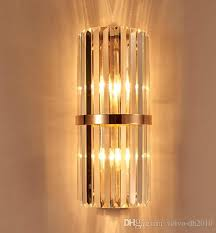 best quality k9 crystal wall sconce bedroom wall lamp with switch livingroom dining bedroom led wall light conference hall hotel gold crystal lamps llfa at