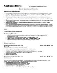 Linux System Administration Sample Resume Resume Cv Cover Letter