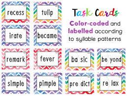Vcv Pattern Adorable Syllables Task Cards VCV Pattern And Final Stable Syllables TpT