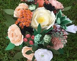 Paper Flower Bouquet Etsy Paper Flower Bouquet Etsy