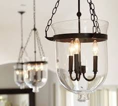 bell jar lighting fixtures. Pottery Barn Hundi Lantern - Bell Jar Pendant Only 40 Watt Bulbs Lighting Fixtures L