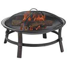 Attractive Wood Fire Pit Table   H Wood Burning Fire Bowl