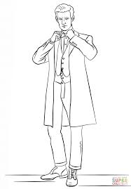 Small Picture The Eleventh Doctor from Doctor Who coloring page Free Printable