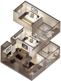 2 bedroom loft. Wonderful Picture Of 2 Bedroom Loft Apartments 1.png Small Three House Plans Creative Design Ideas