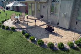 biondo cement stamped concrete exposed aggregate poured patio