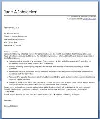 Cover Letter For Resume Technician Lezincdc Com