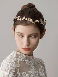 Coiffure De Mariage Or Bandeau Feuille Accessoires De Cheveux De Mariée