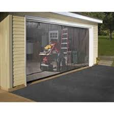 some one makes a screen door for the front of your garage door so you can open the door and not let the bugs in and you ll have a visual as well