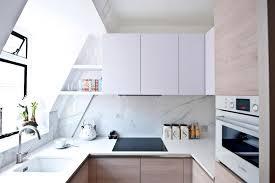 modern kitchen marble backsplash. Unique Modern A Bright Small Kitchen Interior With Modern Set And Marble Backsplash  Design Also Glass Window With Modern Kitchen Marble Backsplash I