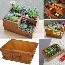 wooden flower pots for succulent plants nursery garden planter window box flower trough pot plants garden supplies novelty gift novelty